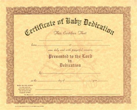 dedication certificate template baby dedication certificate template business
