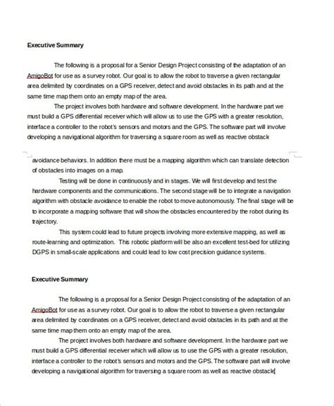 Executive Summary Outline by Executive Summary Template Doliquid
