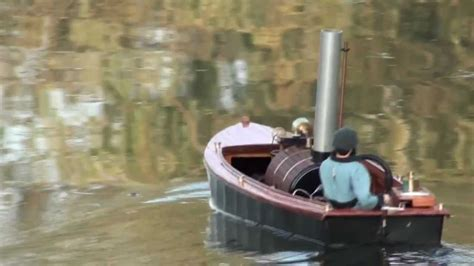 steam powered rc boat live steam powered model boat sunset youtube