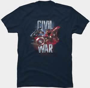 T Shirt Captain America Civil War 05 marvel captain america and iron civil war t shirt