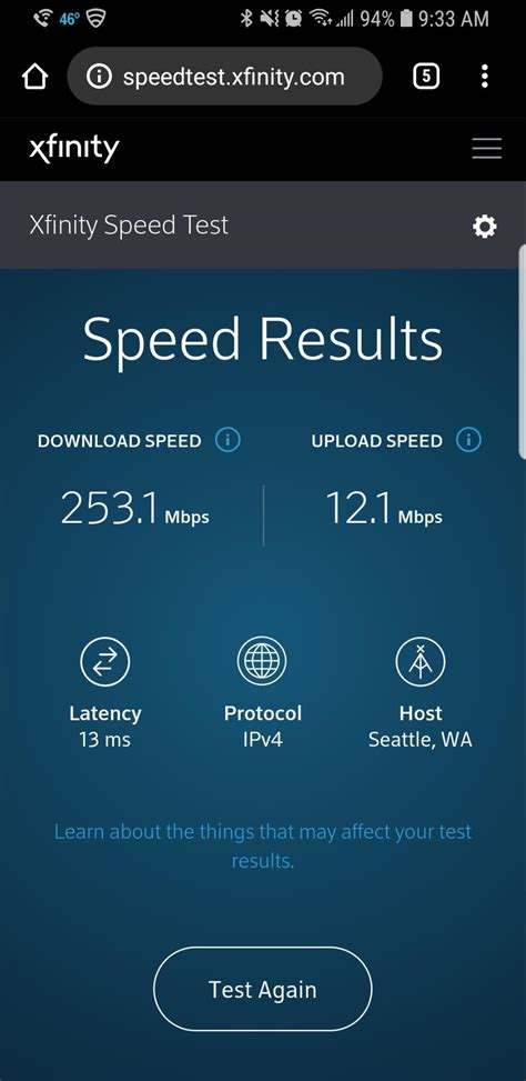test mobile xfinity speed test review