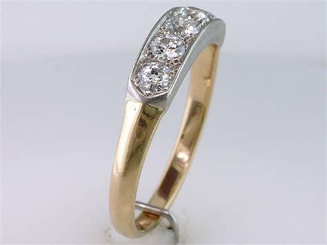 antique deco wedding band vintage antique deco 14k platinum wedding ring