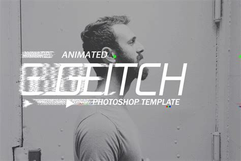 gif animated glitch photoshop templates by safisakran