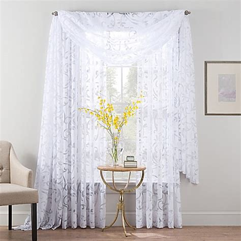 curtain smart smart sheer insulated burnout voile sheer window curtain