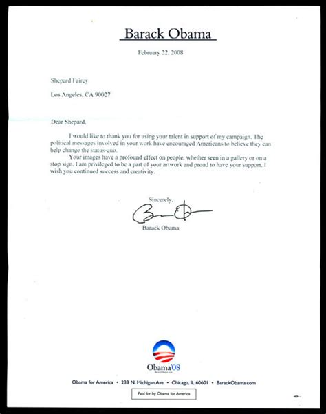 Obama Letters