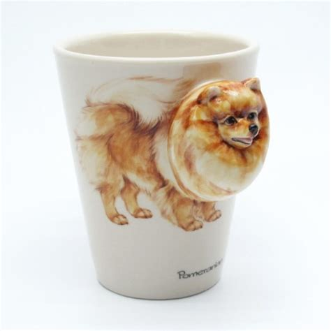 pomeranian gift ideas crafts using ceramic cups