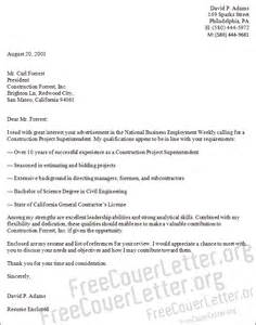 Construction Cover Letter Sles by Overseas Construction Superintendent Resume Sales Superintendent Lewesmr