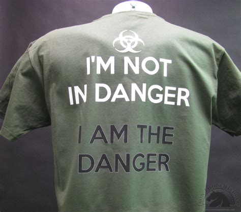 Tshirt Kaos I M The Danger i m not in danger i am the danger shirt and motorcycle shirts