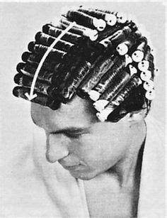 men in perm rollers vintage wooden perm rods beauty shop pinterest