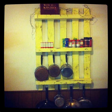 home improvements pallet pot rack a greenpoint kitchen diy pot rack with a old look stuff i made pinterest