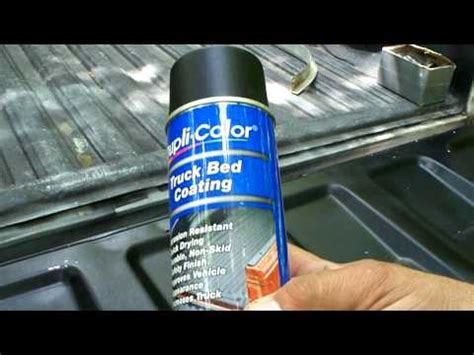 duplicolor bed armor review dupli color truck bed coating and mail youtube