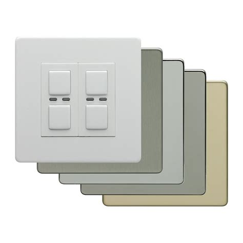 home automation light switch lighwaverf lighting home automation dimmer switch 2 gang 2