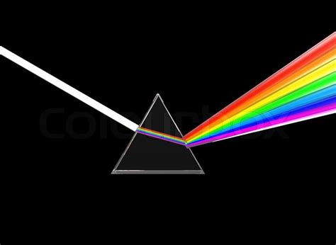 prisma beleuchtung prisma teilen licht stockfoto colourbox