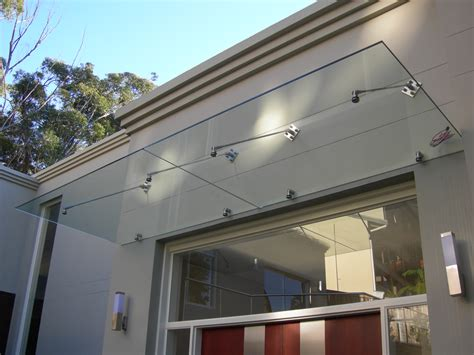 glass awning residential trinity steel canopies trinity steel