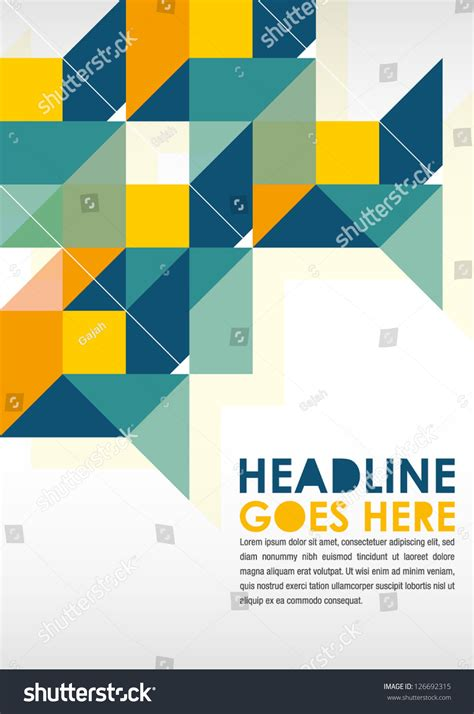 design poster template printposter design template layout designbackground stock