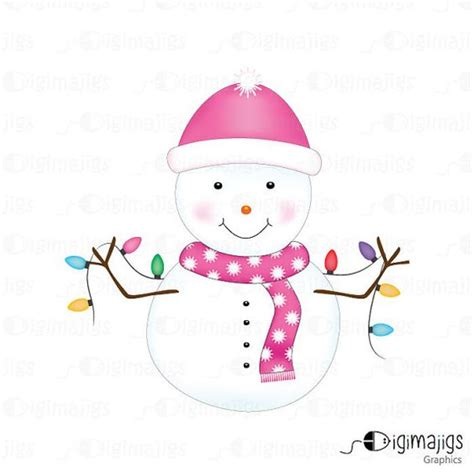 commercial woman hits snowman cute snowman dressed in pink for commercial and personal
