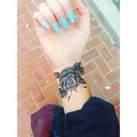 black rose tattoo on wrist black and grey best ideas designs