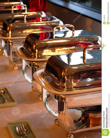 dishes for buffet chaffing dishes for buffet stock photo image 1112570