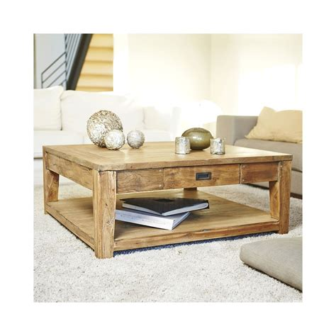 Teck And Co by Garden And Co Table Basse Carr 233 E Teck Recycle 100cm