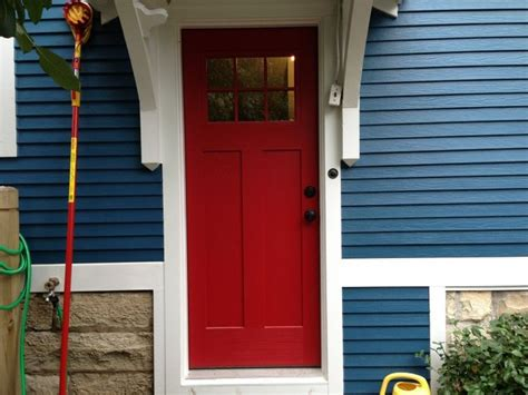 blue house white trim front door blue house white trim and red door in elmhurst opal