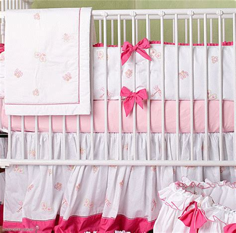 Pink Butterfly Crib Bedding Designer Baby Pink Butterfly Crib Bedding From Poshtots