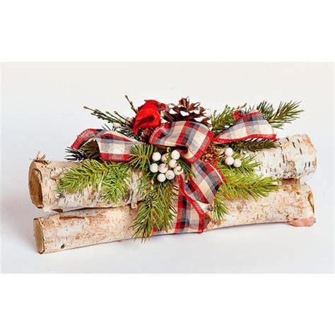 beatiful birch log holiday centerpiece christmas pinterest