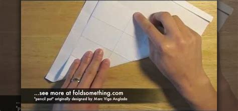 How To Make A Origami Pencil Holder - how to fold an origami two cup pencil holder 171 origami