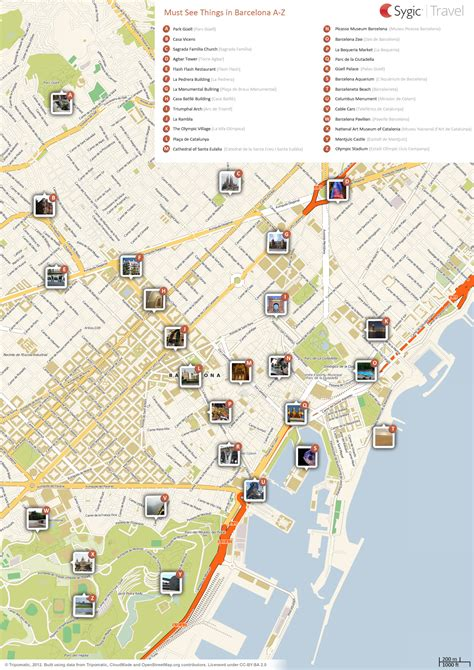 barcelona map tourist attractions map of barcelona attractions tripomatic