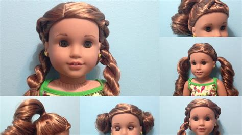 american girl hairstyles youtube american girl doll hairstyles lea s pj youtube