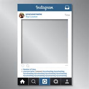 instagram poster template instagram social media cut out photo board frame page