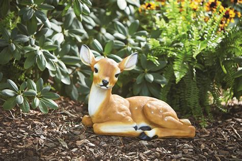 large yard ornaments lifelike large doe deer garden statue ornament lightweight