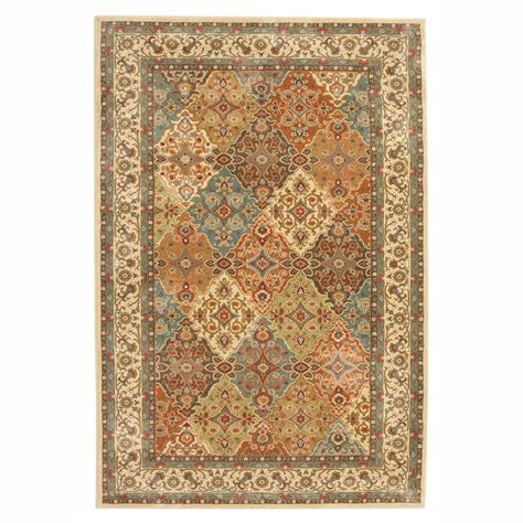 floor rugs home depot home decorators collection almond buff 5 ft x 8 ft area rug 441708 the home depot