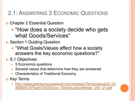 Economics Chapter 1 Section 3 by Ppt Ch 2 Economic Systems Powerpoint Presentation Id
