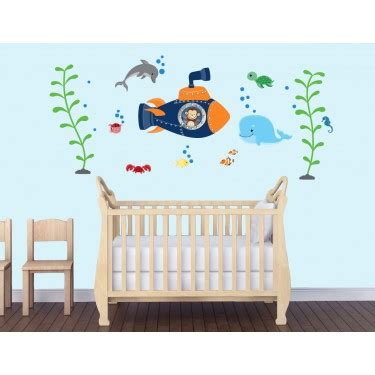 Children S Bedroom Wall Stickers Under The Sea Wall The Sea Wall Decals Nursery