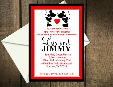 wedding invitation to mickey mouse mickey and minnie mouse wedding invitations mickey mouse