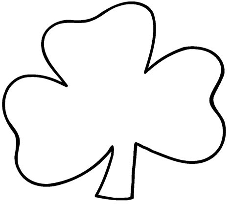 Shamrock Outline Clipart by Black And White Shamrock Clipart Clipart Suggest