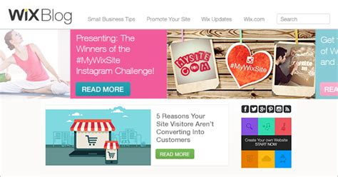 layout blog wix wix blog web design small business tips to promote