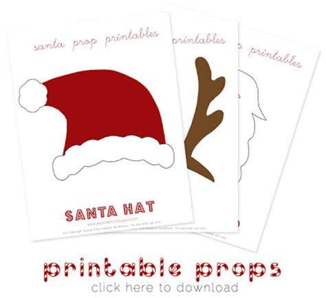 printable xmas photo props 20 free holiday printables the creative mama