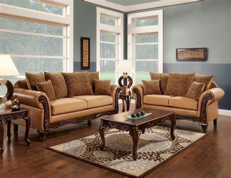 2 pcs traditional sofa set