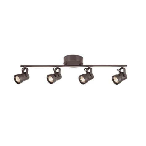 Ceiling Fans With Track Lighting Hton Bay 4 Light Bronze Led Dimmable Fixed Track Lighting Kit With Bar Metal Shade