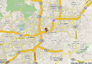 la mesa california map map of inn express san diego la mesa sdsu area