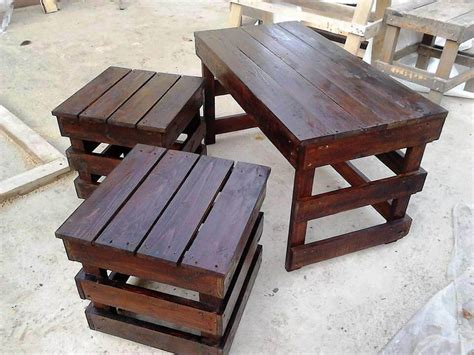 Pallet Coffee Tables Pallet Coffee Table With Side Tables 101 Pallet Ideas
