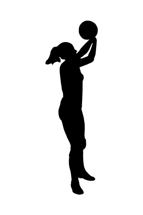 Sports Player Outline by Best Basketball Clipart 11262 Clipartion