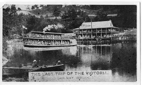steam boat victoria an artistic depiction of the quot last trip of the victoria