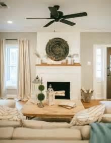 World Market Sofa Table by Joanna Gaines Farmhouse Style Shiplap Fireplace Neutral