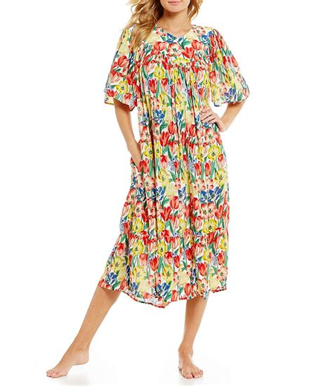go softly tulip print crinkled patio dress dillards