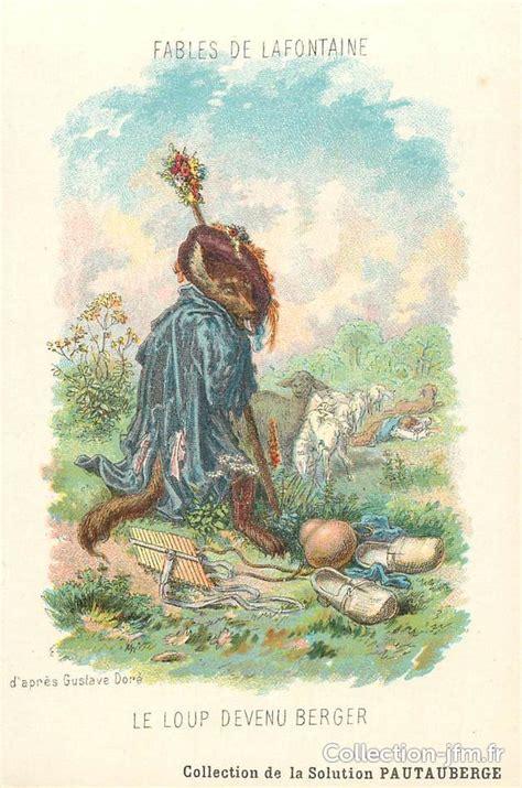cpa fable de la fontaine le loup devenu berger publicite pautauberge themes contes