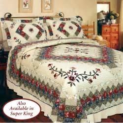treasures floral patchwork quilt bedding