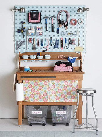 tool bench organization storage on display peg boards painted pegboard and tomboys
