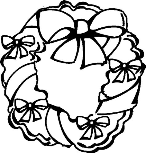 Free Coloring Pages Of Christmas Wreaths Wreath Coloring Pages